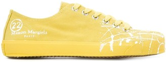 Maison Margiela Tabi paint-splattered low-top sneakers