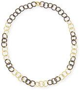 Armenta Midnight & Yellow Gold Diamond Link Necklace