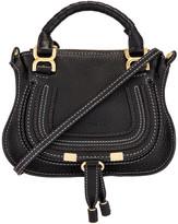 Chloé Mini Marcie Double Carry Bag in Black | FWRD