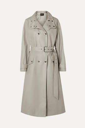 Isabel Marant Tatiana Double-breasted Coated Cotton-canvas Trench Coat - Mushroom
