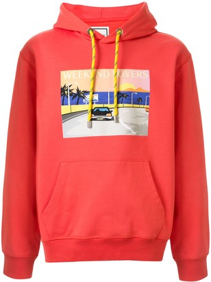 Wooyoungmi Photographic-Print Long-Sleeved Hoodie