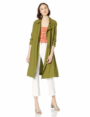 The Fifth Label Women's Crew Basic Lightweight Casual Trench Coat