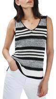 Topshop Monochrome Stripe Sweater Vest
