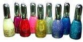 La Femme Nail Polish Set Of 9 Glitter Colours