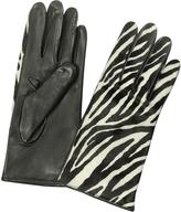 Forzieri Women's Zebra Pony Hair and Italian Nappa Leather Gloves