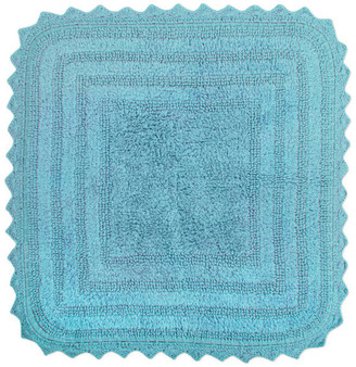 Design Imports Cameo Blue Square Crochet Bath Mat