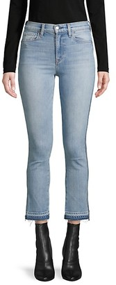 Hudson Split-Cuff Cropped Jeans