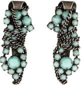 Dannijo Finley Crystal Chain Earrings