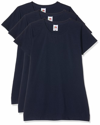 Fruit of the Loom Women's Lady-Fit Sofspun Tee 3 Pack T-Shirt