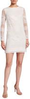 Sho Long-Sleeve Lace Shift Dress
