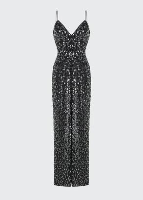 Rasario Sequin Slip Gown
