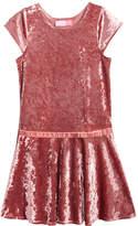 Good Lad Crushed Velvet Drop Waist Dress, Little Girls