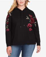 Jessica Simpson Trendy Plus Size Embroidered Hoodie