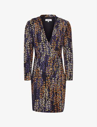 Reiss Esmerelda graphic-print crepe dress