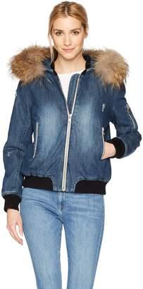 Soia & Kyo Soiakyo SoiaKyo Women's Branca-R Bomber Jacket with Removable Hood and Fur