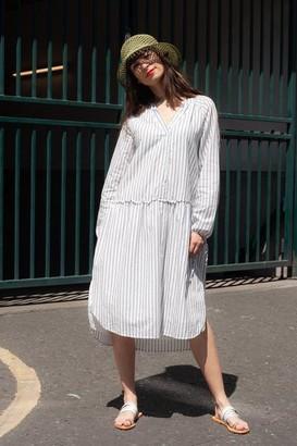 Dream Athens Ecru Stripe Dress - S