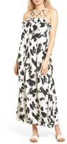 Moon River Women's Print Halter Maxi Dress