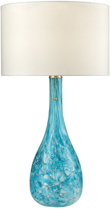 Artistic Home & Lighting Mediterranean Blown Glass Table Lamp