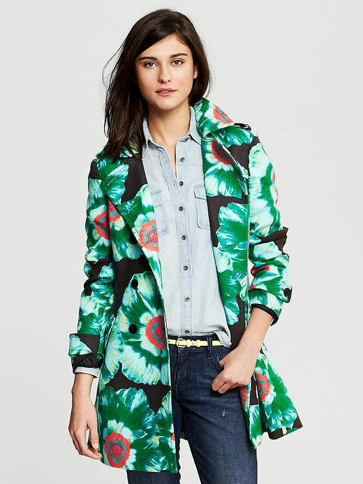 Banana Republic Printed Trench