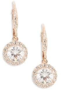 Nadri Rose Goldtone Crystal Vintage Drop Earrings