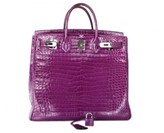Hermes pristine (PR Violet Crocodile 40cm Porosus HAC Birkin Bag