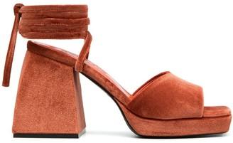 Nodaleto Ankle Tie Platform Sandals