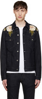 Dolce & Gabbana Blue Embroidered Denim Jacket