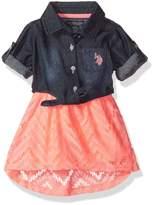 U.S. Polo Assn. Baby Girls' Casual Dress