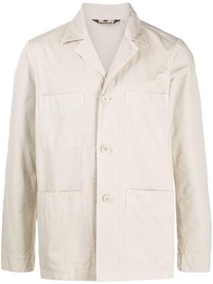 Aspesi Patch Pockets Single Breasted Jacket