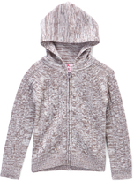 Pink Angel Gray Twist Cable-Knit Zip Hoodie - Toddler & Girls