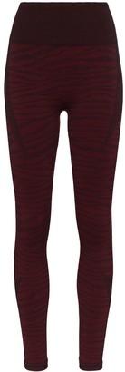 Varley Rosewood tiger stripe leggings