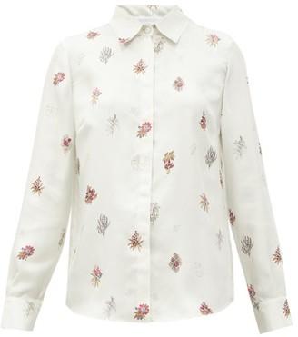 Gabriela Hearst Henri Floral-print Silk-twill Shirt - White Multi