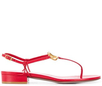 Valentino VLOGO plaque sandals