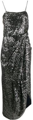 Derek Lam 10 Crosby Lexis Baby Sequin Sarong Mesh Dress