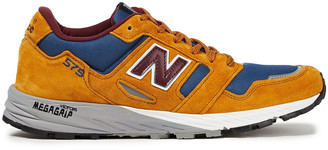 New Balance Color-block Suede, Leather And Canvas Sneakers