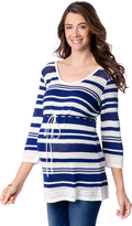 Motherhood Pointelle Babydoll Maternity Sweater