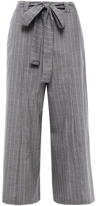 Each X Other Belted Pinstriped Wool Culottes