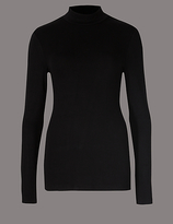 Autograph HeatgenTM Thermal Turtle Neck Top with Cashmere