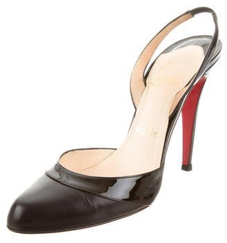 Christian Louboutin Pointed-Toe Slingback Pumps