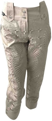 Gianfranco Ferre Beige Cotton Jeans
