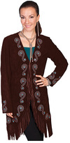 Scully Women's Fringe Embroidered Suede Coat L165