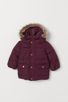 H&M Padded Hooded Jacket - Red