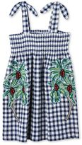 Stella McCartney palm print check dress