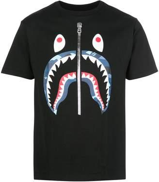 Bape shark print T-shirt