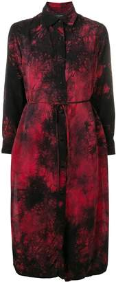 Amiri tie-dye print shirt dress