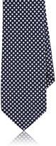 Barneys New York Men's Dotted Silk Necktie-NAVY