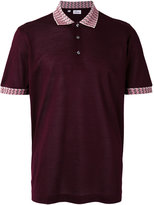 Brioni collar detail polo shirt - men - Cotton - L