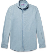 Ralph Lauren Purple Label Slim-fit Cutaway-collar Cotton-chambray Shirt