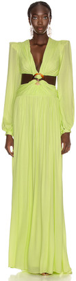 PatBO for FWRD Neon Cutout Gown in Lime | FWRD
