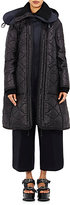 Sacai Women's Combo Quilted Coat-BLACK